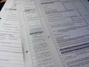 komplizierte Steuerformulare